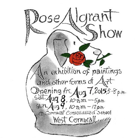 The Rose Algrant Art Show at the Cornwall Consolidated School in West Cornwall CT
