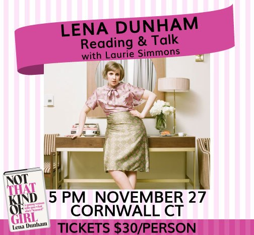 Lena Dunham Reading in Cornwall CT
