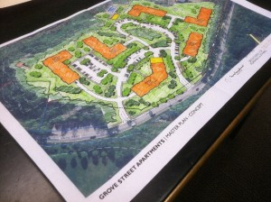 Construction plans for a 288 unit apartment complex at the former S.D. Ireland site (288 Grove St. Burlington, VT).