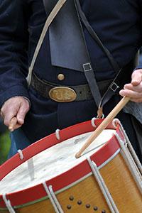 Civil War Re enactment - Union Drummer