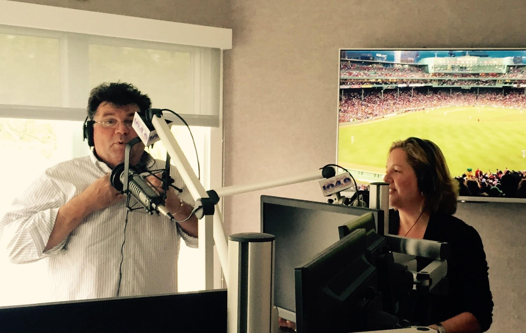 Carrie Cayer reporting on the real estate market with Rick Carter & Tony V on North Shore 104.9