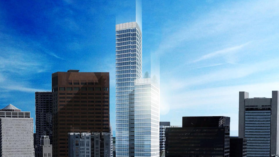 Developers have their eyes on the sky with proposals such as the Trans National Tower.
