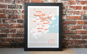 Boston-neighborhoods-framed