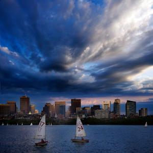 Boston sky Charles