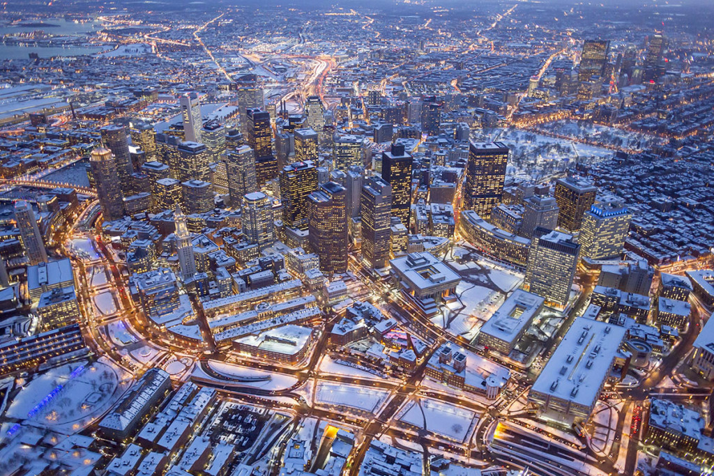 aerial, Boston, MA
