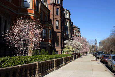 Back Bay Boston Condos During Spring