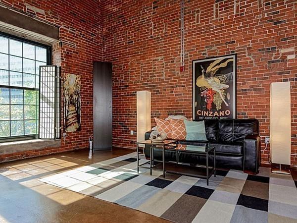 American Brewery Loft Livingroom Boston