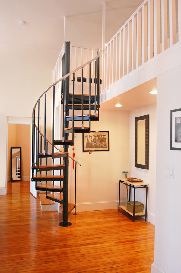 Spiral Staircase at 1 Summer Street Somerville Loft