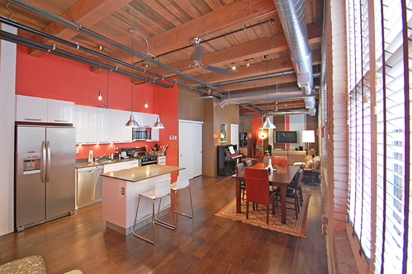 Boston real estate news insight boston lofts for Open concept loft