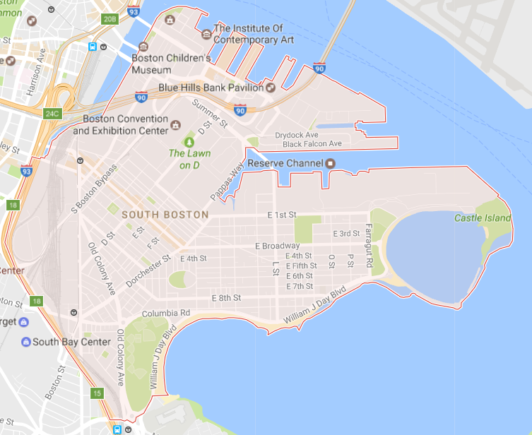 South Boston Map Boston Neighborhood Guide   My Boston Apartment | Advisors Living South Boston Map