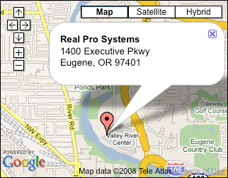 google map to real pro systems
