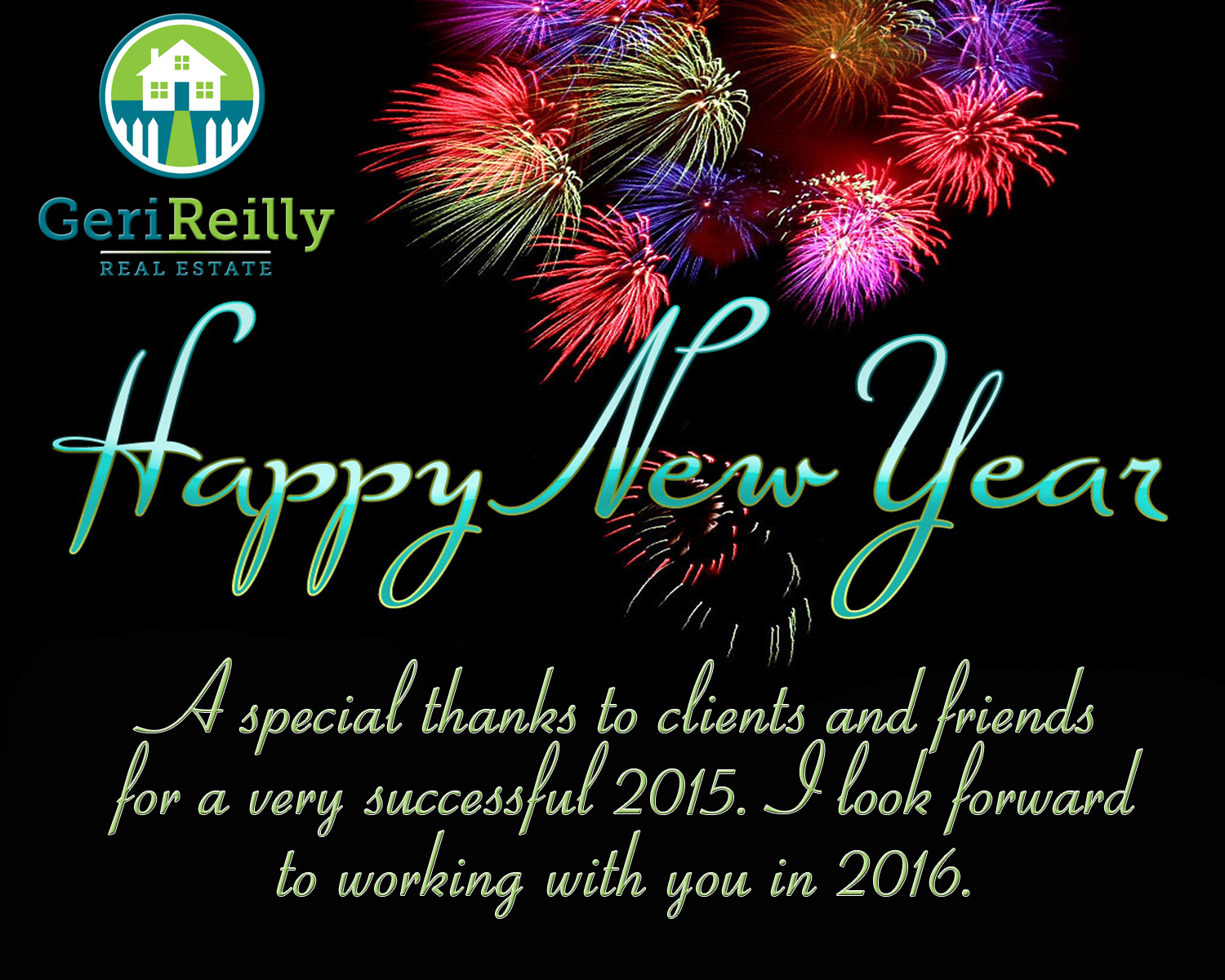 happy new year from geri reilly real estate