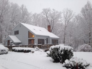 North Conway home in winter