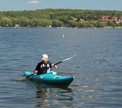 Conway Lake kayaker