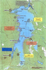 Conway Lake NH Millfoil Map