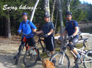 Tim Biking with friends at DAR State Forest