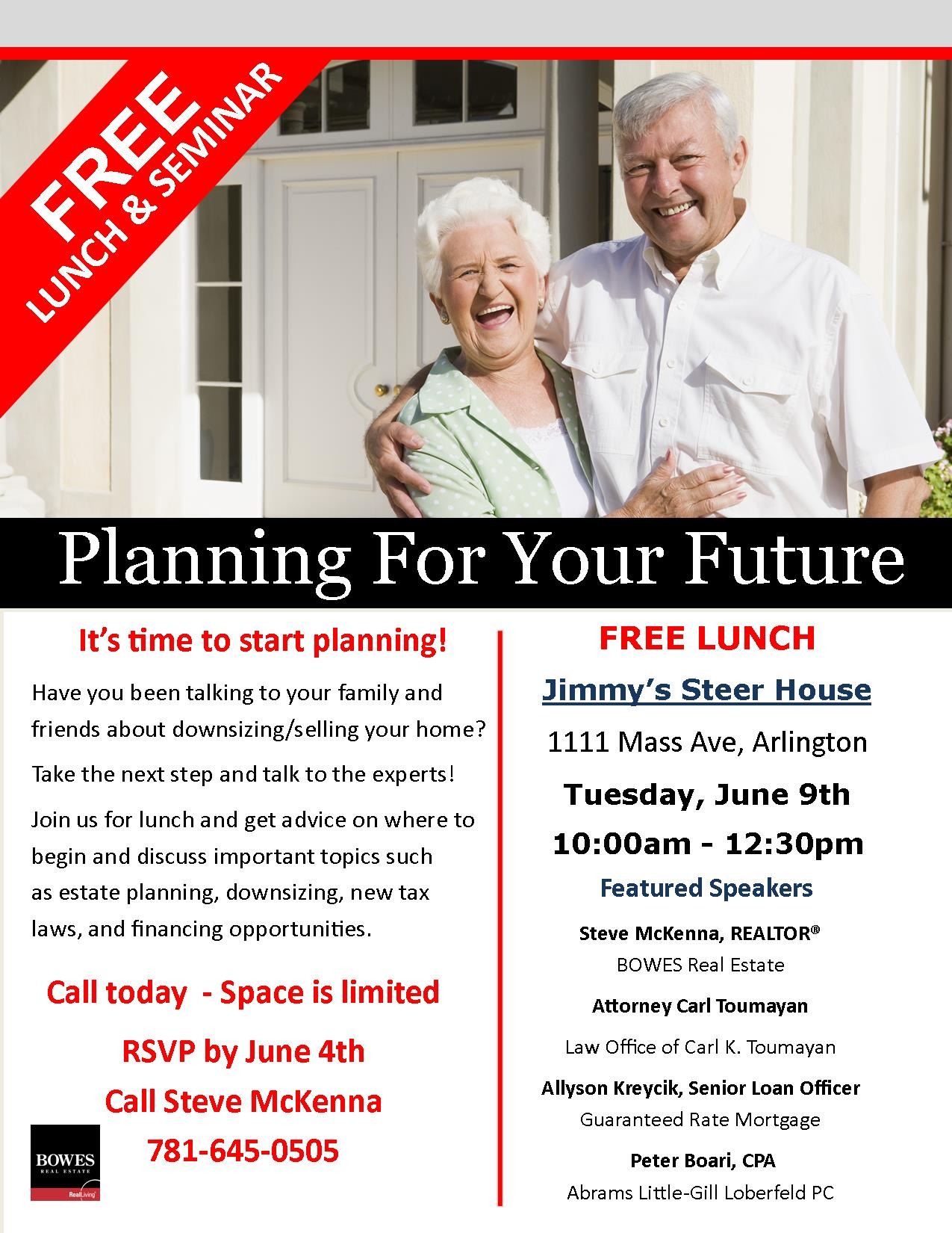 Downsizing Seminar, Planning for Your Future