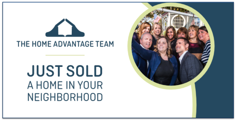 The Home Advantage Team: Just Sold postcard.