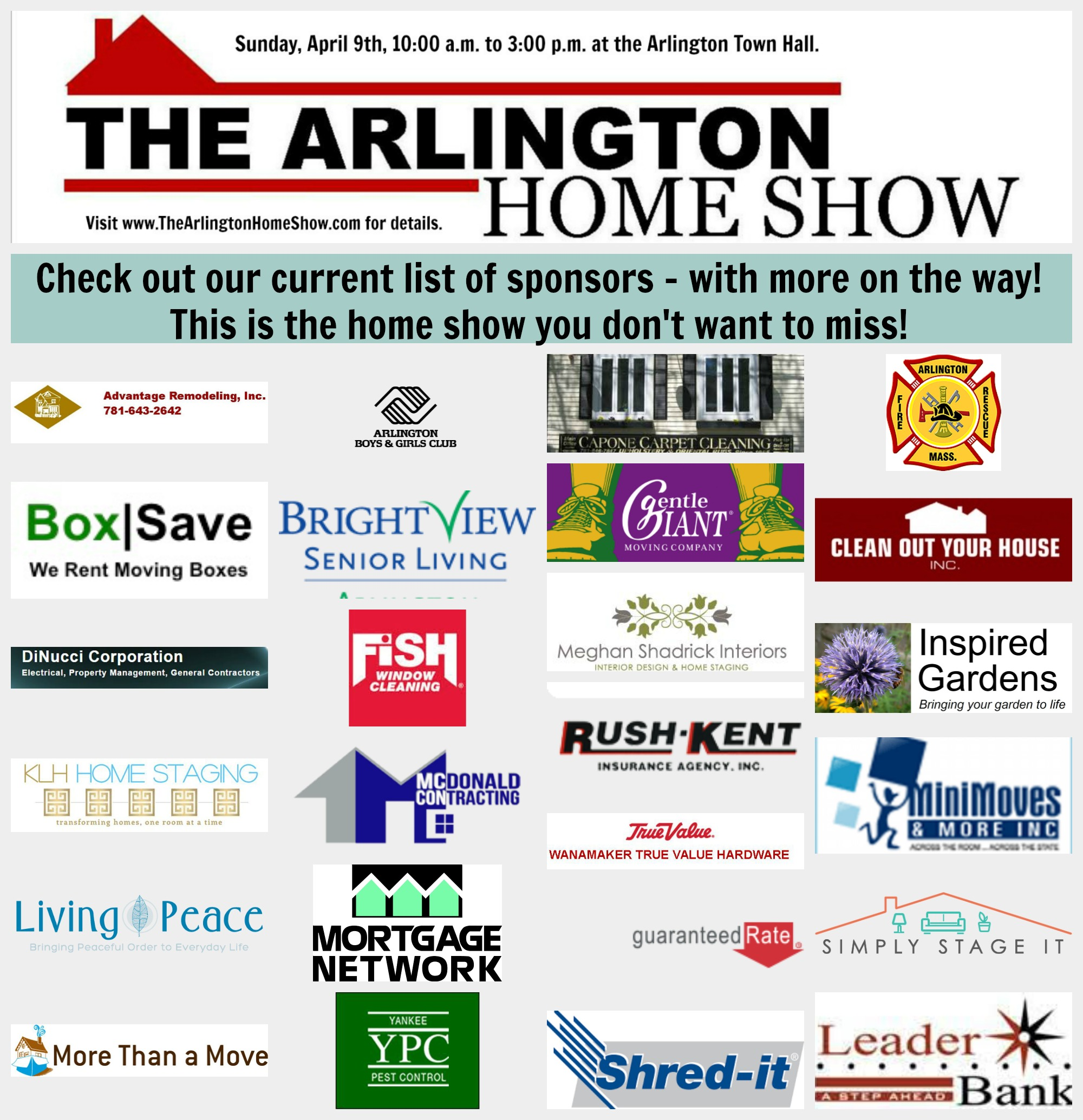 The Arlington Home Show Sponsor List