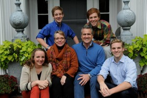 Brian Boardman VT real estate agent & his family