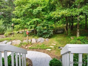 Enjoy the quiet backyard of this Swannanoa home.