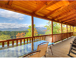 The view from the deck at The View - an excpetional vacation rental in the Asheville Area