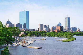 View of Back Bay & The Charles River