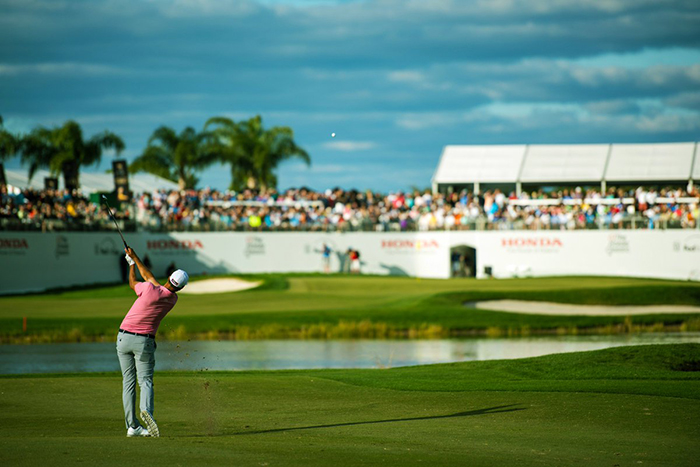 Adam Scott on 16 at The Honda Classic 2016, PGA National Resort & Spa, Palm Beach Gardens
