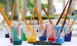 colorful paints at ArtiGras