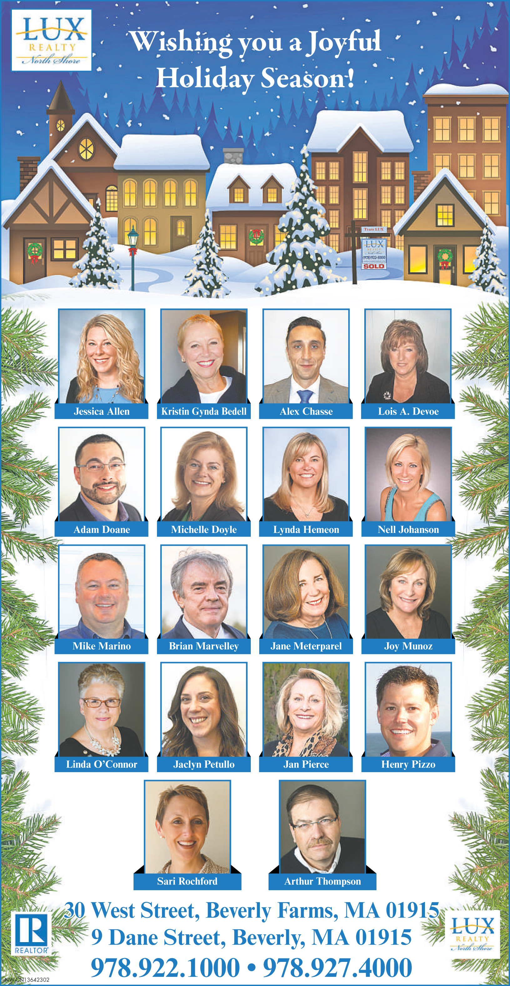 seasons greetings from lux realty north shore