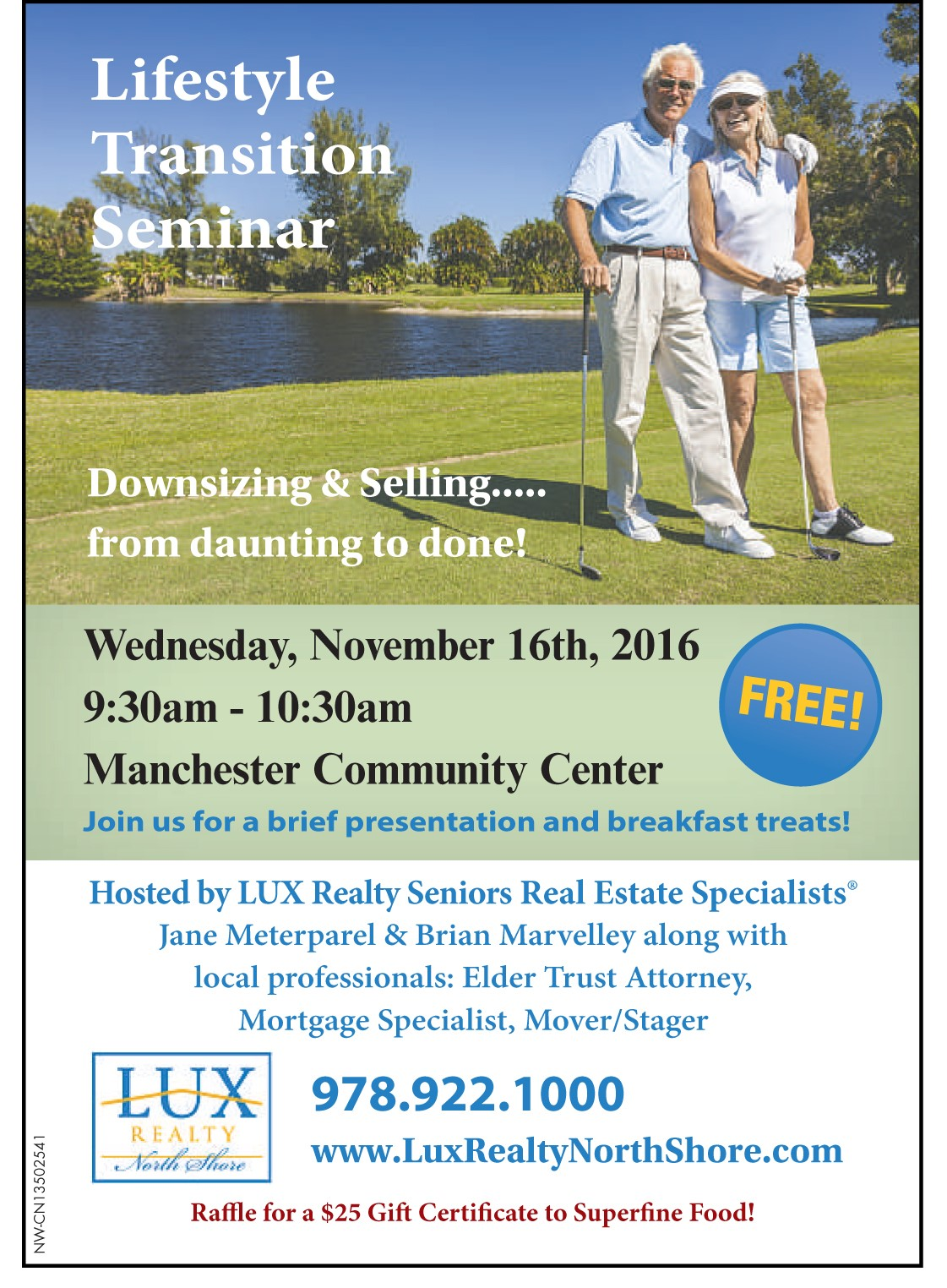Lifestyle Transition Seminar LUX Realty North Shore