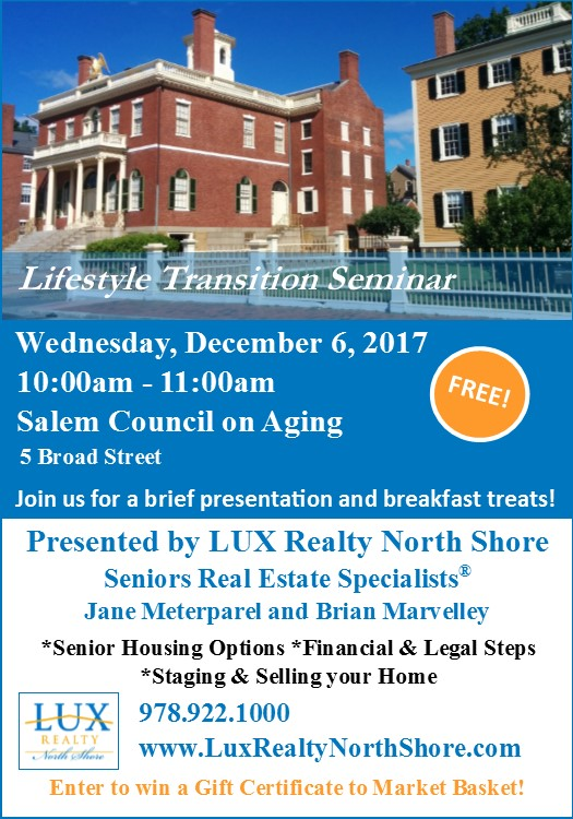 salem council on aging lifestyle transition seminar