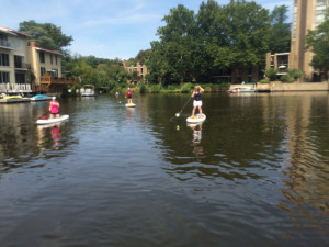 Reston Lakes paddle boarding