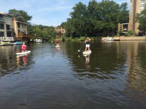 Reston Lakes paddle boarding