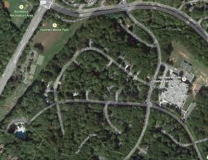 Aerial view of Paddock Lane