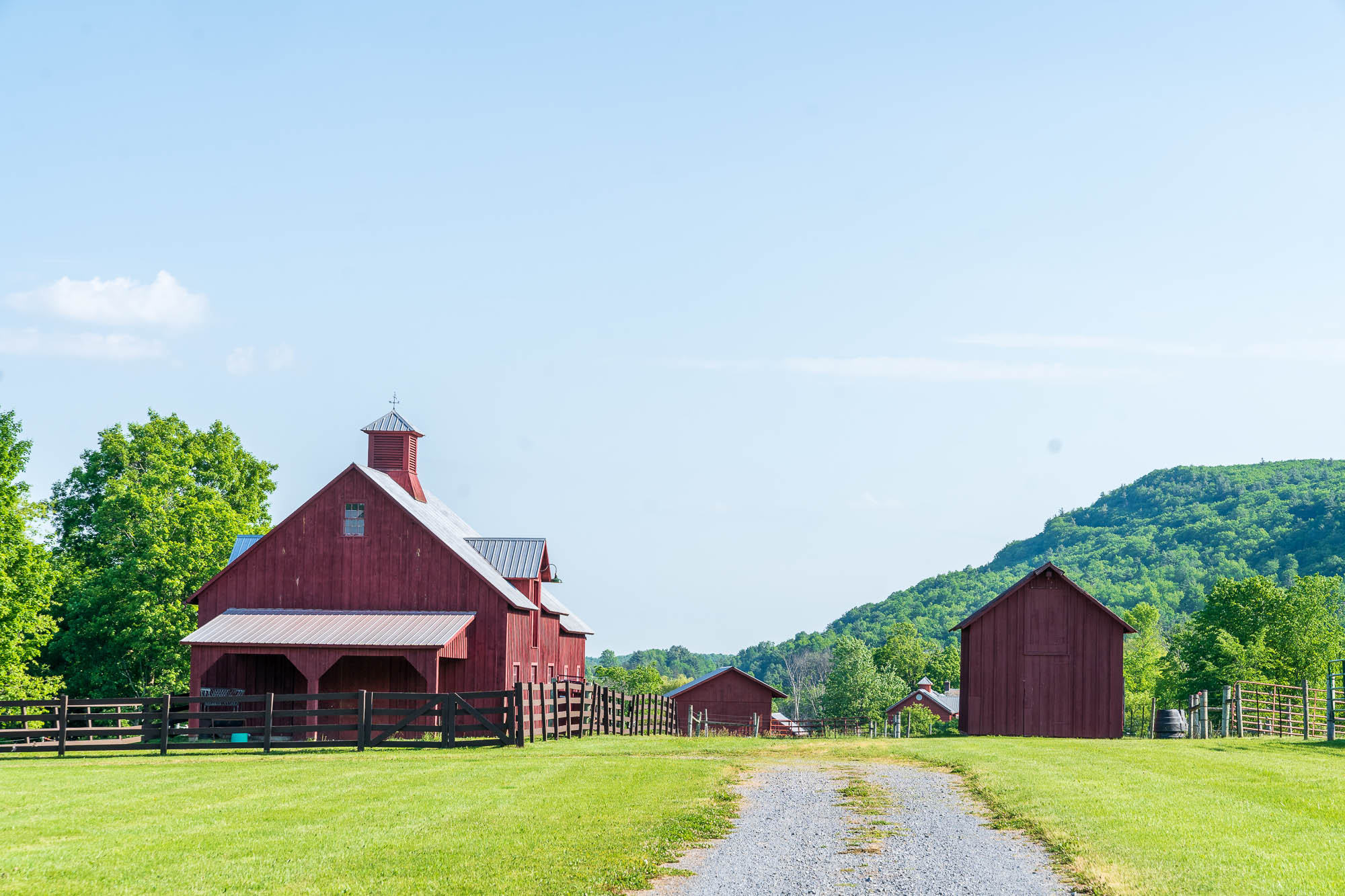 iconic red barns, Addison County VT