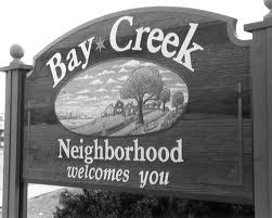 Bay Creek Neighborhood Sign, Madison, WI