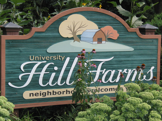Hill Farms Neighborhood Sign, Madison, WI