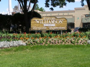 WIliamson - Marquette Neighborhood sign