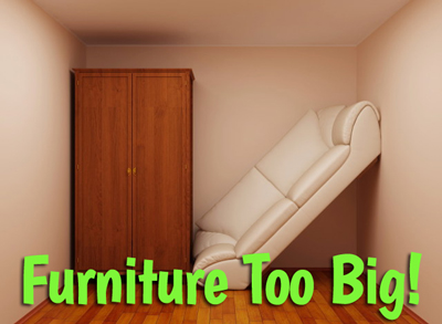 get rid of big furniture overly large furniture can make a room seem small and crowded the opposite of what you want buyers to feel sell or store it to