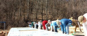 Town and Mountain Realty Agents Volunteering with Habitat for Humanity