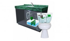 AQUS grey water toilet, which recycles grey water from your sink to flush your toilet1
