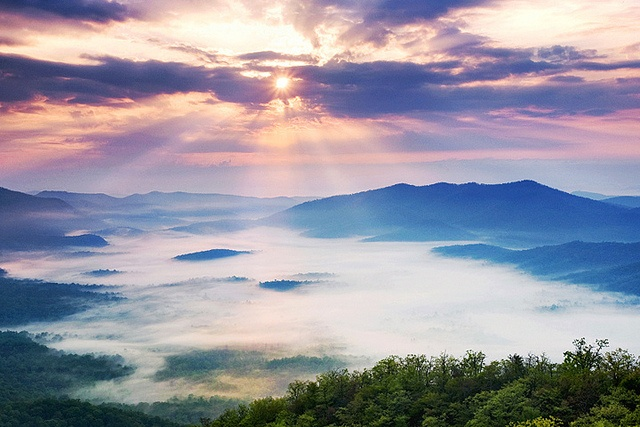 Pisgah Sunrise -- Blue Ridge Parkway, NC by Light of the Wild, via Flickr