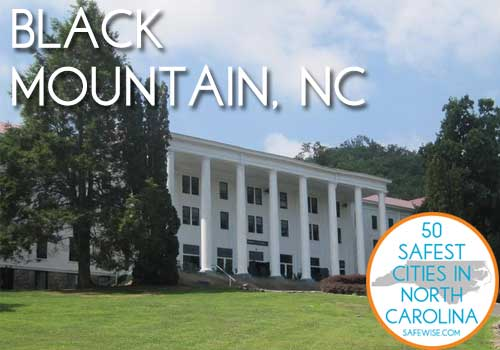 Black Mountain is the ninth safest city in North Carolina
