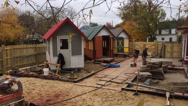 This Tiny House Village Was Built for and by the Homeless Town