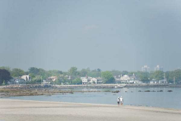 Beach in Old Greenwich CT