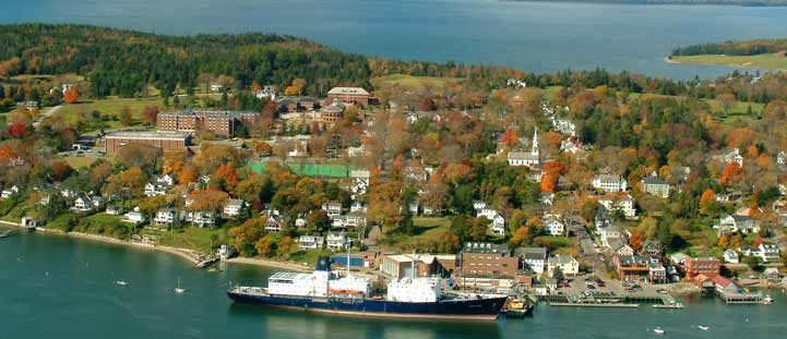 Arial view of Castine, Maine