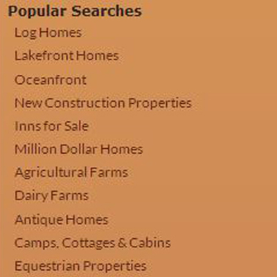 Popular Maine Real Estate Searches
