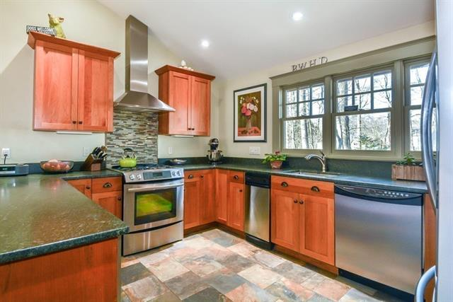 Kitchen at 129 Howard Street, Reading MA Single Family home for Sale