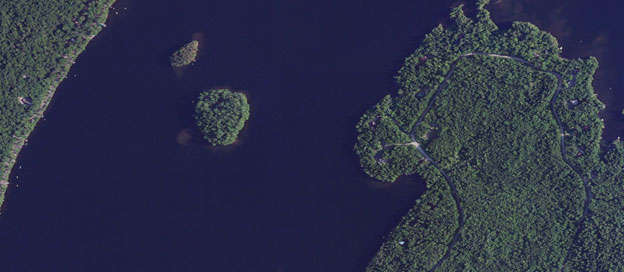 Echo Lake Maine aerial view
